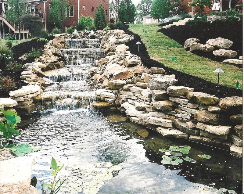 Marvins water gardens and landscapes home for Water pond design